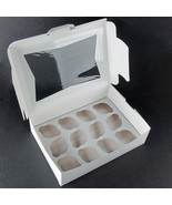 """Window Cupcake Box with Insert 10"""" x 10"""" x 5""""  10 Pack BEST PRICE HOLDS 12 - $23.38"""