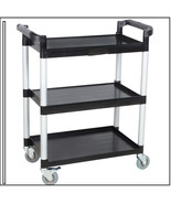 Black Three Shelf Utility Cart / Bus Cart  BLACK AND BLUE AVAILABLE Best... - $79.78
