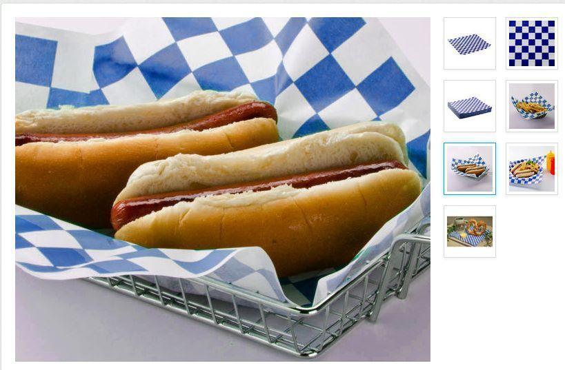 "12"" x 12"" BLUE RED BLACK  GREEN Check Deli Sandwich Wrap Paper 5000 pieces Case"
