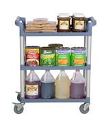 BlueThree Shelf Utility Cart / Bus Cart  BLACK AND BLUE AVAILABLE Best P... - $84.47