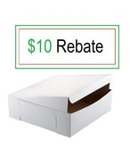 "16"" x 16"" x 5"" White Cake  Bakery Box - 50 PACK Bundle BEST PRICE! FREE ... - $60.78"