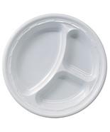 """Dart Solo 10CPWF 10 1/4"""" White 3 Compartment Impact Plastic Plate 500 pa... - $66.85"""