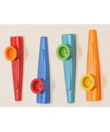 LOT OF 4 ASSORTED PLASTIC KAZOO ANYONE CAN PLAY & HAVE FUN ANYTIME ANYWHERE ! - $4.88