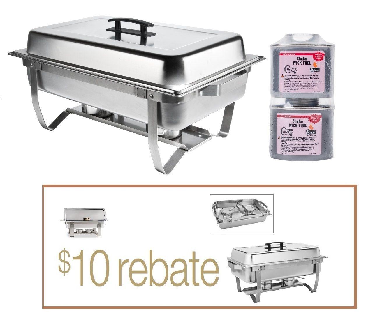 4QT CLASSIC Rectangular Chafing Dish Chafer Catering Buffet Warmer FREE SHIP +$$