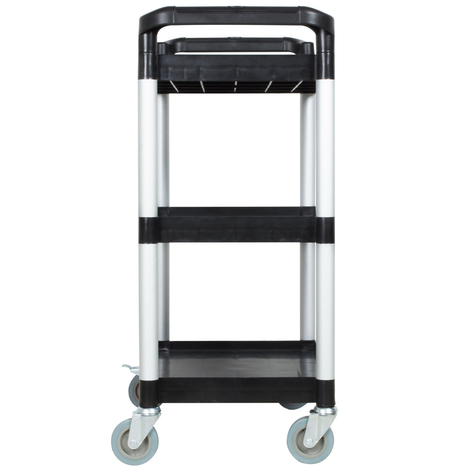 Black Three Shelf Utility Cart / Bus Cart  BLACK AND BLUE AVAILABLE Best Price