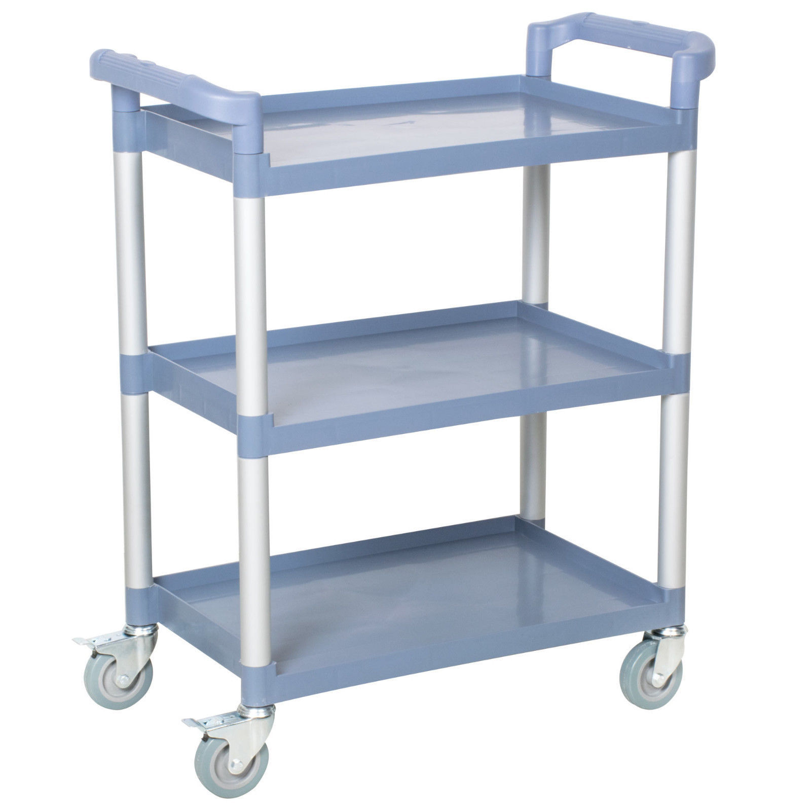 BlueThree Shelf Utility Cart / Bus Cart  BLACK AND BLUE AVAILABLE Best Price