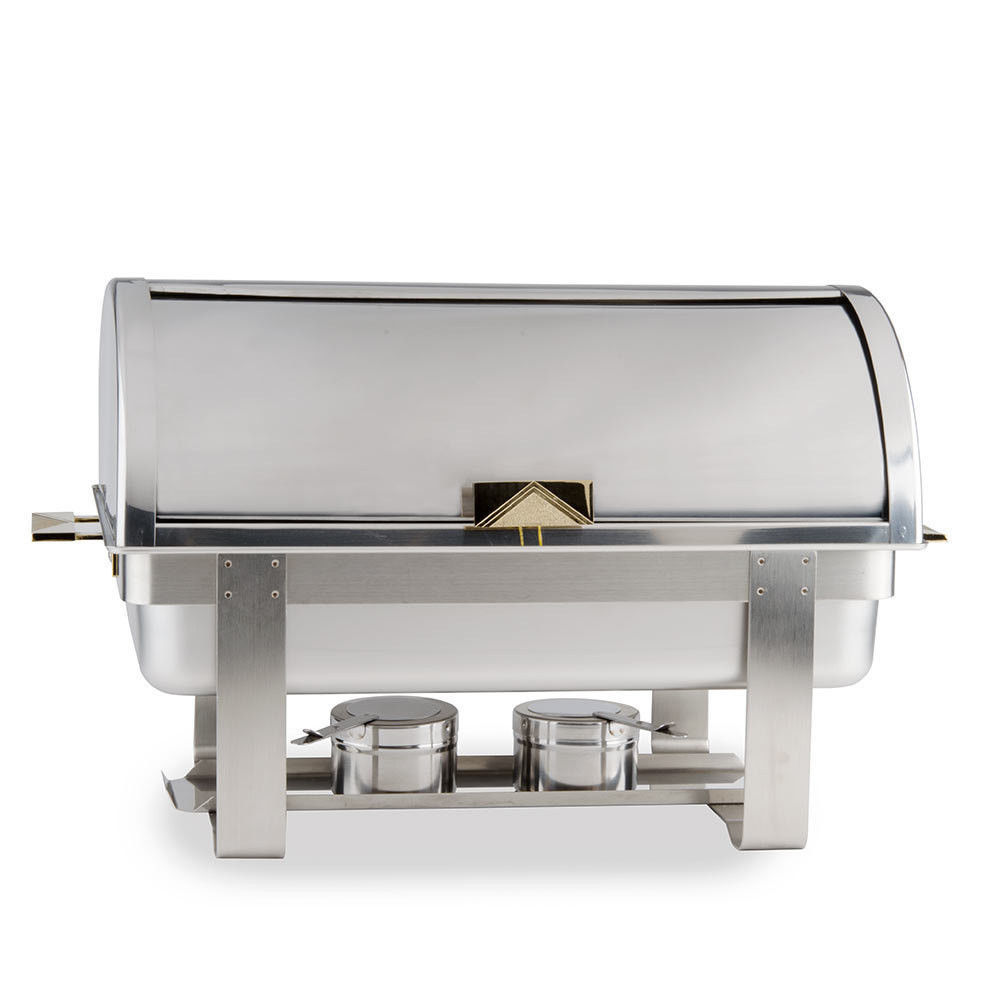 8 QT DELUXE ROLL TOP Chafer Stainless Chafing Dish Catering $93.82 After Rebate