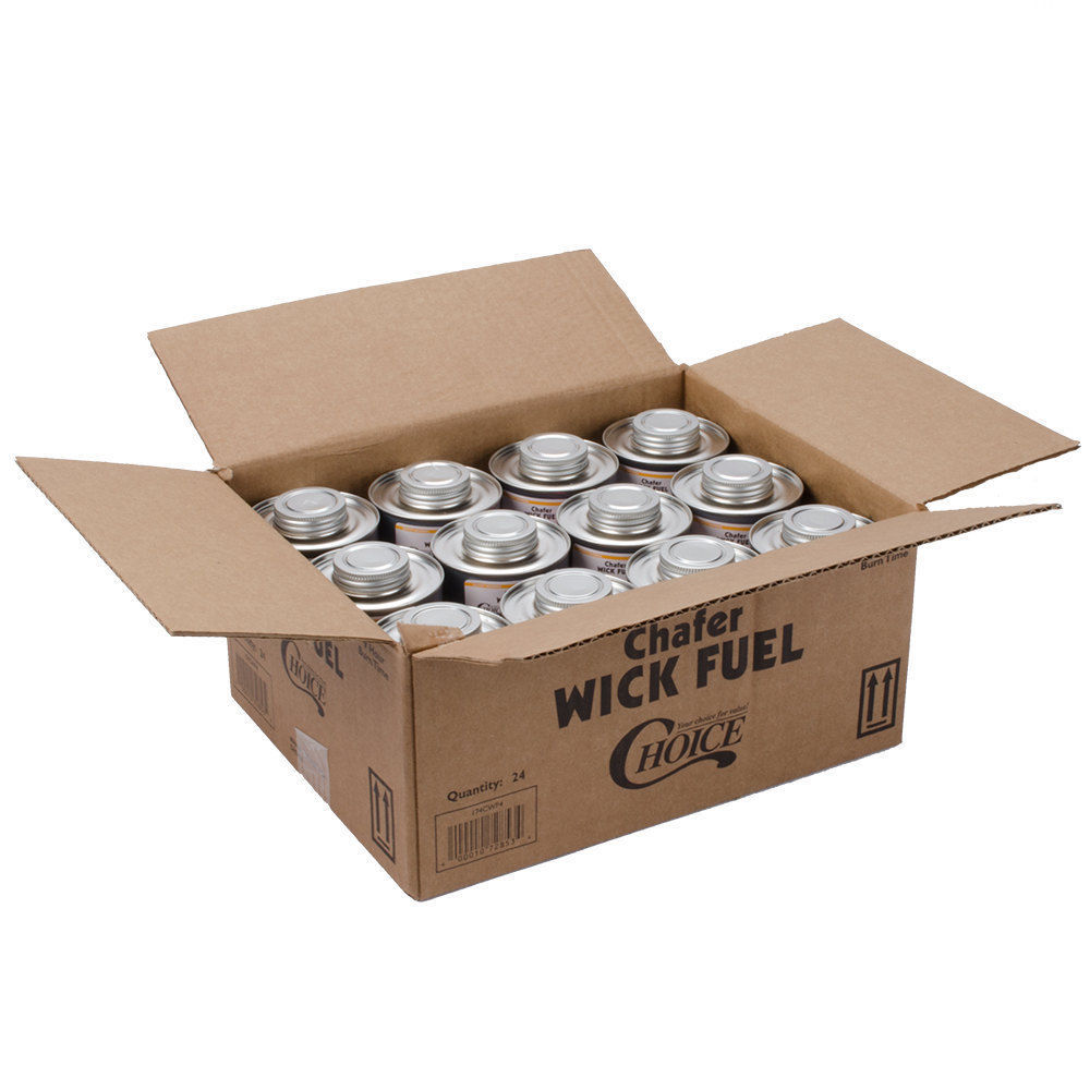 Choice Wick Chafing Dish Fuel 4 Hour 24 Pack Case Lowest Price GUARANTEE!