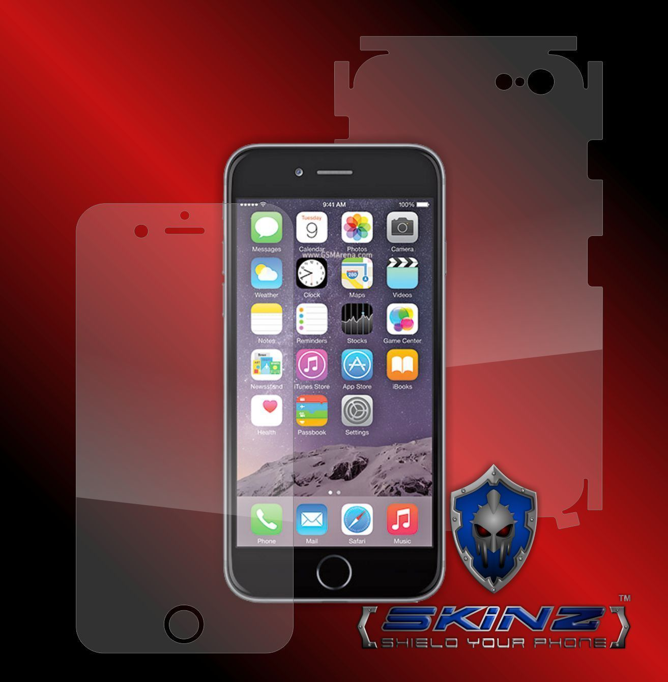 """Iphone 6 4.7"""" - Self Healing Screen Protector + Full Body Invisible Skin Cover"""