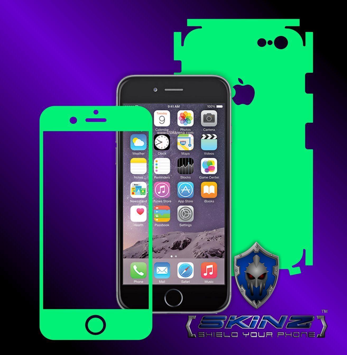"Apple iPhone 6 / 6S Plus 5.5"" - Glow in the Dark Skin,Full Body Shield,Case Cove"
