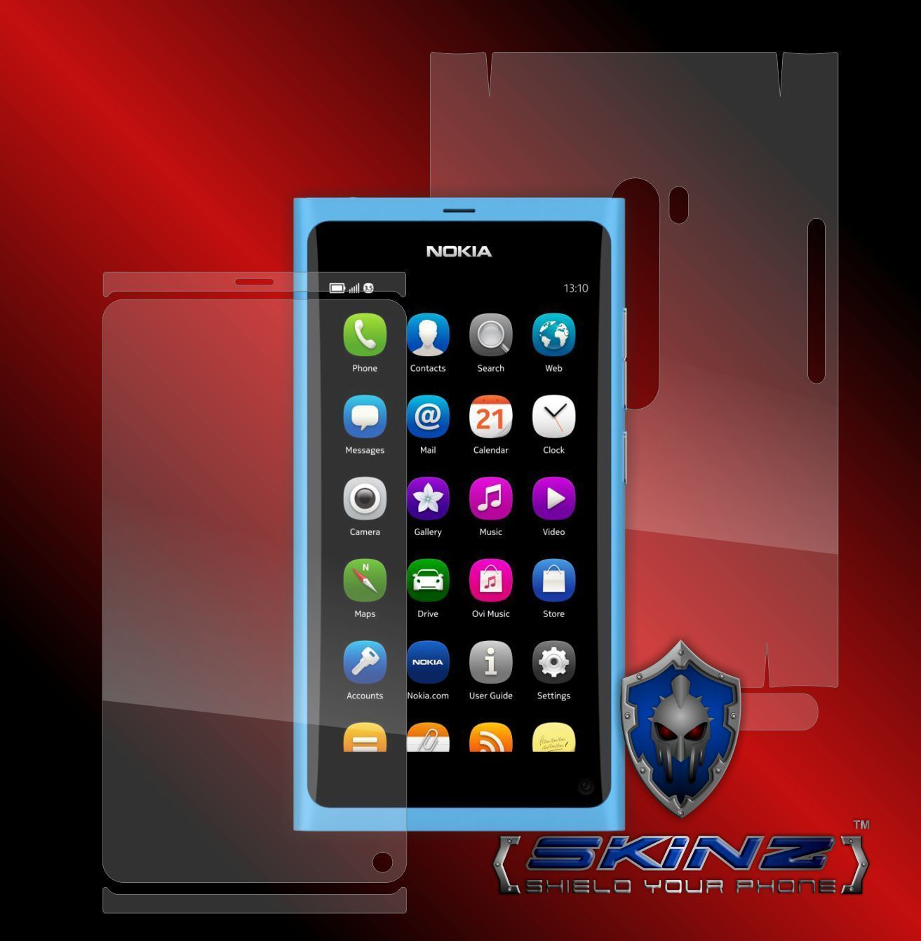 Nokia N9 -  S.Healing Screen Protector + Full Body Invisible Skin Cover