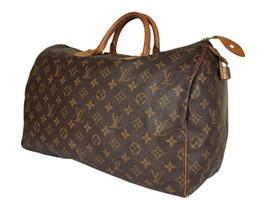 LOUIS VUITTON Speedy 40 Monogram Canvas, Leather Hand Bag LH3656 - $489.00