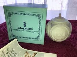 Lladro Porcelain Christmas Tree Decoration 1989 Blue & White in Orig Box - $34.99