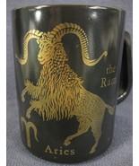 Aries The Ram Coffee Mug Cup Zodiac Horoscope Federal Glass F Shield 10oz - $17.95