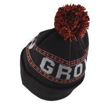 Organika Grow with Us Head Up Black Grey Orange Pom Knit Beanie Skull Cap Hat image 3