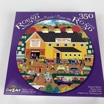 "Sweet & Sticky Honey Farm by Mark Frost 14"" Round 350 Piece Puzzle CraZart - $8.59"