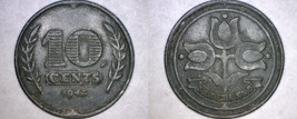 1942 Netherlands 10 Cent World Coin - $7.99