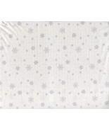 Ralph Lauren Gray Snowflakes on White Cotton Sheet Set Queen - $82.00