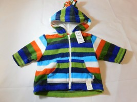 The Children's Place Boy's Long Sleeve Fleece Hoodie Striped Size Variations NWT - $16.19