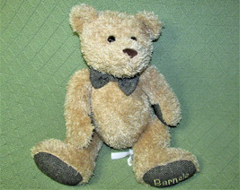 "12"" BARNES NOBLE BARNSIE TEDDY BEAR PLUSH STUFFED ANIMAL TAN w/CHEVRON P... - $17.82"
