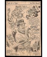 Ron LeFlore Detroit Tigers Sports Cartoon Newspaper Clipping Baseball  S... - $10.99