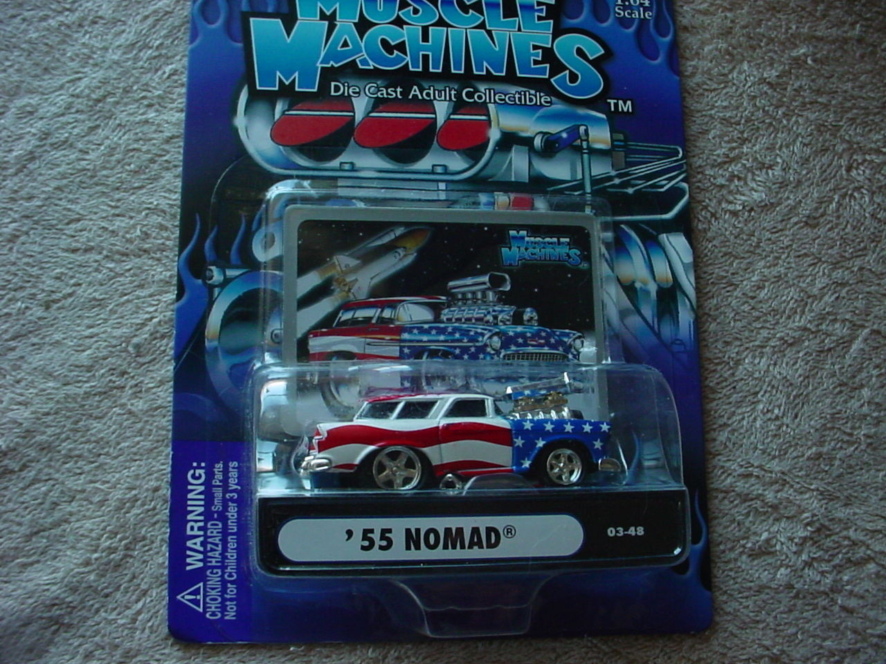 MUSCLE MACHINES USA TRIBUTE '55 NOMAD 03-48 BLOWN MIP FREE USA SHIPPING - $11.29