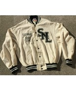 RARE VINTAGE Roots Saturday Night Live SNL Cream Off White Varsity Jacket - $571.09