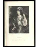Barbara, Duchess of Cleveland 1851 Antique Art Print Charles II Court Be... - $24.99