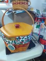 Longaberger 1997 Christmas Collection Snowflake Basket -Combo - Wood Lid - $27.55