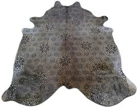 Illuminati Cowhide Rug Size: 7 X 6 ft Illuminati Symbols Silk Screen Rug E-457 - $206.91