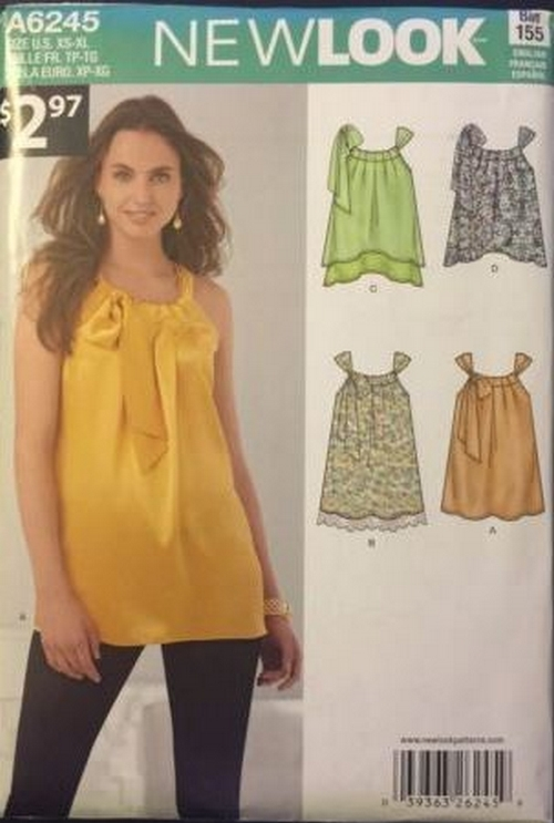 New Look 6245 Sewing Pattern: 1 listing