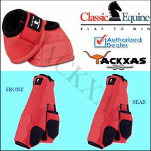 SMALL CORAL CLASSIC EQUINE FRONT REAR LEGACY SPORTS HORSE NO TURN BELL BOOTS U-C - $170.99