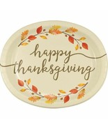 Thankful Thanksgiving 8 Ct 10 x 12 inch Oval Banquet Platters Plates - $8.70
