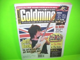 Jeff Beck Cover Goldmine Magazine 1999 Issue British Invasion The Who Be... - $6.69