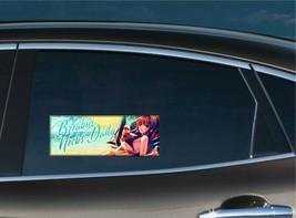 Breaking Necks Daily Slap Bumper Window Vinyl Decal Anime JDM Stanced Civic RSX - $3.99+