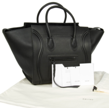 Celine Medium Luggage Phantom Bag In Black Leather - $2,815.58 CAD
