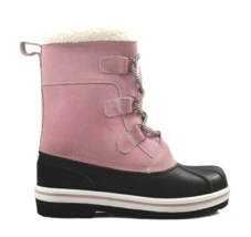 Cat & Jack Girls' Rolane Pink Leather Water Resistant Thermolite Winter Boots image 2