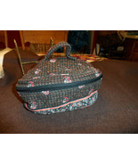 Vera Bradley Home and away round cosmetic bag in retired Provencal - $28.50