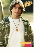 Matthew Lawrence teen magazine pinup clipping flannal shirt outside young boy