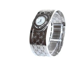 Auth GUCCI 112 White Dial Stainless Steel Quartz Ladies Watch GW1611 - $555.98 CAD