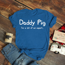 Father Dad Daughter - Daddy Pig T-Shirt Birthday Funny Ideas Gift Vintage - $15.99+