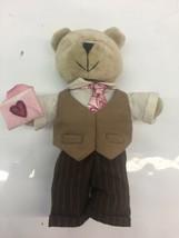 Starbucks Bearista 2007 58th Edition Bearista Valentines Day Boy Bear Pl... - $14.01