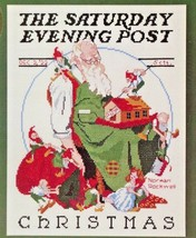 Norman Rockwell Cross Stitch Kit - 'Santa's Helpers' Dimensions 1983 Sealed NOS - $28.79
