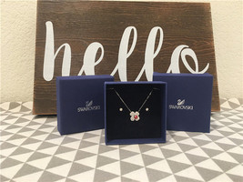 Swarovski Clear/Red Crystal Billy Set Clover Earrings & Necklace STYLE# 5086250 - $92.34