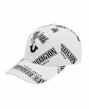 True Religion Men's TR All Over Repeat Pattern Logo Cap Sports Strapback Hat image 2