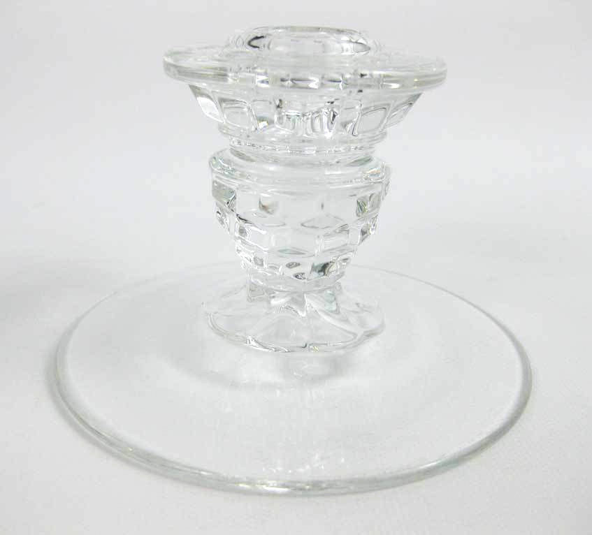 Vintage Fostoria American Clear Candle Stick Holder