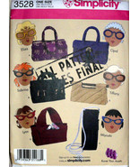Handbags Purses, Simplicity 3528, Bags and Cases, Small Totes, Six Style... - $9.00