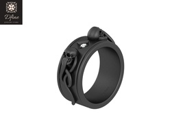 Anniversary Gift For Wife Symbol Of Death And Rebirth Skull And Snack Ring Band  - $2,399.99