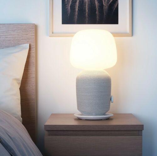 SYMFONISK Table lamp with WiFi speaker, white image 4