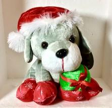 Christmas Puppy dressed as Santa  decoration plush CHRISTMAS - $13.74